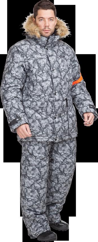 Костюм мужской Аккем зимний,мех. капюшон, Костюмы утепленные<br>Мужской зимний костюм для низких температур. <br>Оригинальная расцветка подходит как для <br>городских условий, так и для отдыха на природе. <br>Куртка: • застежка на двухзамковую молнию <br>с ветрозащитной планкой на кнопках и ленте-контакт <br>• многофункциональные карманы (нагрудные <br>— с застежкой на тесьму-молнию, нижние — <br>с клапаном и двумя входами, верхним и боковым) <br>• внутренний карман с застежкой на тесьму-молнию <br>• капюшон съемный, с отстегивающейся отделкой <br>из натурального меха • регулировка по линии <br>талии и низу • рукав с внутренней трикотажной <br>манжетой • область локтя усилена налокотниками <br>• низ рукавов регулируется по ширине патой <br>• капюшон, воротник и карманы на флисовой <br>подкладке • на рукаве съемная сигнальная <br>накладка Полукомбинезон: • застежка на <br>двухзамковую молнию с ветрозащитным клапаном <br>• нагрудные карманы с застежкой на тесьму-молнию <br>• боковые карманы • наколенники с амортизационными <br>вкладышами • задняя часть полукомбинезона <br>отстегивается • внизу полукомбинезона <br>— внутренний чулок Ткань верха: LOKKER LINE 400, <br>83% полиэфир, 17% нейлон, 135 г/м2, PU пропитка <br>400 мм, отделка антифрост Подкладка: 100% полиэстер <br>Утеплитель: Шелтер Profi ST куртка - 4 слоя пл. <br>400 г/м?, полукомбинезон — 3 слоя, пл. 300 г/м? <br>Подкладка: 100% П/Э Цвет: серый Класс защиты: <br>3-4 Климатический пояс: IV- Особый<br><br>Размер: 44-46<br>Рост: 170-176<br>Сезон: зима<br>Цвет: серый