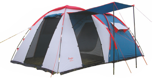 """Палатка Canadian camper GRAND CANYON 4 (цвет royal дуги Палатки<br>Палатка Canadian camper GRAND CANYON 4 (цвет royal дуги <br>11 мм) - это надёжная четырехместная туристическая <br>палатка. Данная модель имеет прочную конструкцию <br>и способна выдерживать довольно сильные <br>порывы ветра, а также дождь и жару. Палатка <br>Canadian Camper GRAND CANYON 4 подойдёт для небольших <br>групп туристов и позволяет с комфортом <br>разместить в ней четыре человека.<br>Особенности антимоскитные сетки;<br>вентиляционные окна;<br>""""юбка"""" по всему периметру<br>имеет два входа в спальные отделения.<br>Характеристики палатка кемпинговая, 4-местная<br>двухслойная, геометрия: полусфера<br>внешний каркас, дуги из стеклопластика<br>3 входа / одна комната<br>вес 11.20 кг<br>водостойкость тента: 4000 мм в.ст<br>водостойкость дна: 6000 мм в.ст<br>внешние размеры (ДхШхВ) 460х260х190 cм<br>внутренние размеры (ДхШхВ) 240х240х170 cм<br>огнеупорная пропитка<br>навес над входом<br><br>Сезон: лето<br>Цвет: синий"""