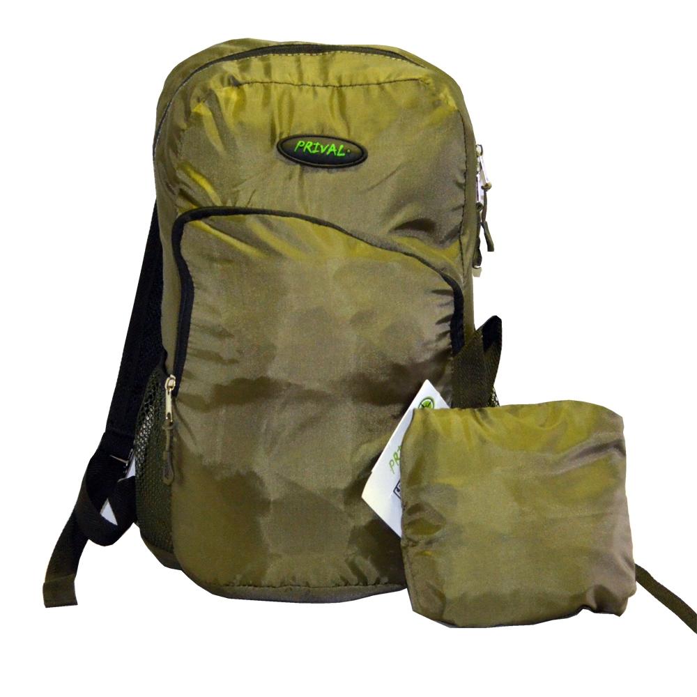 Рюкзак Запасной PRIVAL (хаки)Рюкзаки<br>Многофункциональный рюкзак «Запасной» <br>(Prival) - небольшой, практичный рюкзак разработан <br>в качестве запасного в различных ситуациях, <br>когда требуется разместить дополнительный <br>груз. Может быть использован как в городских <br>условиях, так и в путешествиях. Рюкзак легко <br>сворачивается в компактную сумку, которая <br>не займет много места в основном багаже. <br>В сумку вшита ременная стропа для удобства <br>переноски. Рюкзак выполнен из непромокаемой <br>ткани, имеет 1 фронтальный вместительный <br>карман, 2 боковых и 1 внутренний кармашки <br>для мелочей, регулируемые лямки, ручку для <br>переноски. Характеристики Назначение: Для <br>охоты и рыбалки Исполнение: Мягкий Лямок: <br>2 шт Тип: унисекс Вес: 240 гр Высота: 43 см Ширина: <br>27 см Толщина: 23 см Объём: 18 литров Грузоподъёмность: <br>до 7 кг Ткань: Oxford 240T PU Ткань дна: Oxford 240T PU <br>Цвет: хаки<br><br>Пол: унисекс