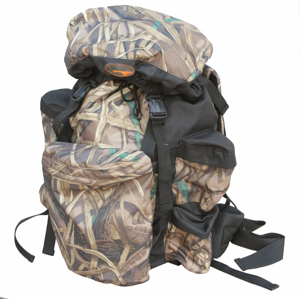 Рюкзак охотника ХСН №2 (70 литров) (9171-3)Рюкзаки<br>Отлично подойдет любителям активного отдыха <br>и походов. Изготовлен из водооталкивающего <br>материала. Объем 70 литров. Особенности: <br>- специальная система для крепления оружия; <br>- съемный карман; - S образные анатомические <br>лямки; - удобный поясной ремень; - четыре <br>наружных кармана на молнии; - объемный клапан <br>с карманом; - грудной фиксатор; - пряжки-самосбросы.<br><br>Пол: унисекс<br>Сезон: Всесезонная<br>Цвет: коричневый<br>Материал: Oxford 600 D PU рип-стоп