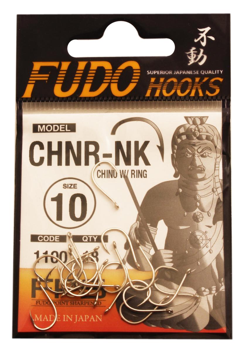 Крючок FUDO CHINU W/RING №10 NK (1100) (18шт)Одноподдевные<br>Рыболовные крючки FUDO, производства Японии, <br>являют собой сочетание лучших материалов <br>, лучших технологий и наилучших человеческих <br>навыков. Основными характеристиками крючков <br>являются : 1 ) оптимальная форма -с точки <br>зрения максимального улова. 2) Экстремальный <br>заточка крюка , которая сохраняется при <br>длительной ловле. 3) Отличная эластичность, <br>что позволяет им противостоять деформации. <br>4) Общая коррозионная стойкость в процессе <br>производства , благодаря нескольким патентам <br>в области металлургии и производства техники. <br>Сталь с управляемым содержания углерода <br>-это те материалы, которые применяются в <br>производстве крючков. Эти материалы, в виде <br>калиброванной проволоки ,изготавливаются <br>исключительно для инжиниринговой службы <br>FUDO . После чего, крючок подвергается двум <br>различным методом для заточки : механическим <br>и химическим. Во время заточки, уровень <br>остроты контролируется онлайн , что в итоге <br>приводит к идеальному повторению всей серии. <br>Прочность крючка реализуется через печи <br>, где система компьютерной помощи регулирования <br>температуры , позволяет достичь точности <br>в производстве в 0,01 градуса по Цельсию, <br>и времени обработки с точностью 0, 001 секунды. <br>В результате крючки FUDO получаются абсолютно <br>закаленными , что позволяет добиться отличного <br>результата по твердости и эластичность, <br>а также все модели крючков обладают анти <br>коррозионным покрытием. Место крепления <br>крюка с леской, выполненно в виде кольца. <br>С изогнутым жалом.<br>