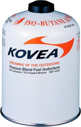 Баллон газовый Kovea 450 (изобутан/пропан 70/30)Баллоны<br>Газовый картридж. Баллон наполнен высокопроизводительной <br>газовой изопропановой смесью составом: <br>Изобутан 72%, Пропан 22%, Бутан 6%. Возможно <br>использование со всеми типами газовых приборов <br>KOVEA и приборами<br>