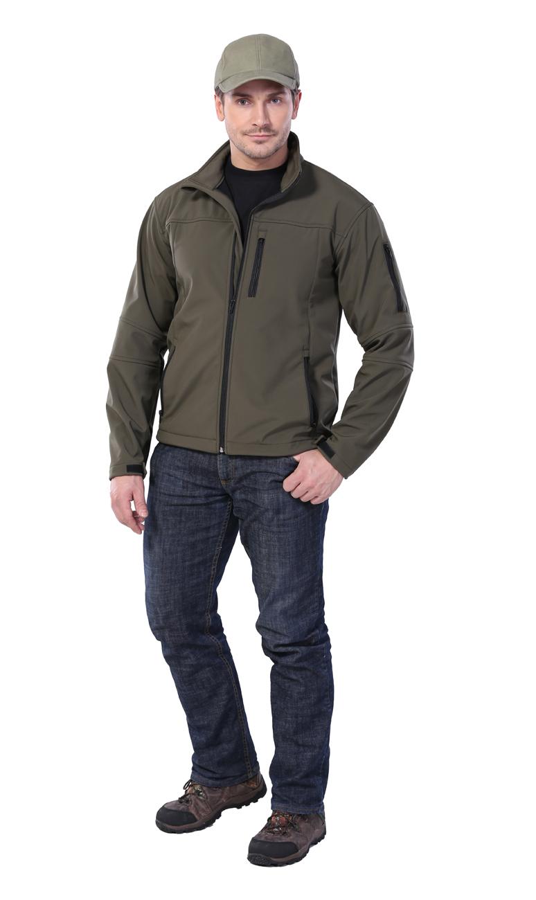 Куртка мужская Gerkon Dendi хаки (44-46, 182-188)Куртки софтшелл (Softshell)<br>Куртка с застёжкой на молнию, карманы на <br>молнии.<br><br>Пол: мужской<br>Размер: 44-46<br>Рост: 182-188<br>Сезон: демисезонный<br>Цвет: оливковый<br>Материал: Тк. Soft shell (100%полиэфир), пл.260г/м2
