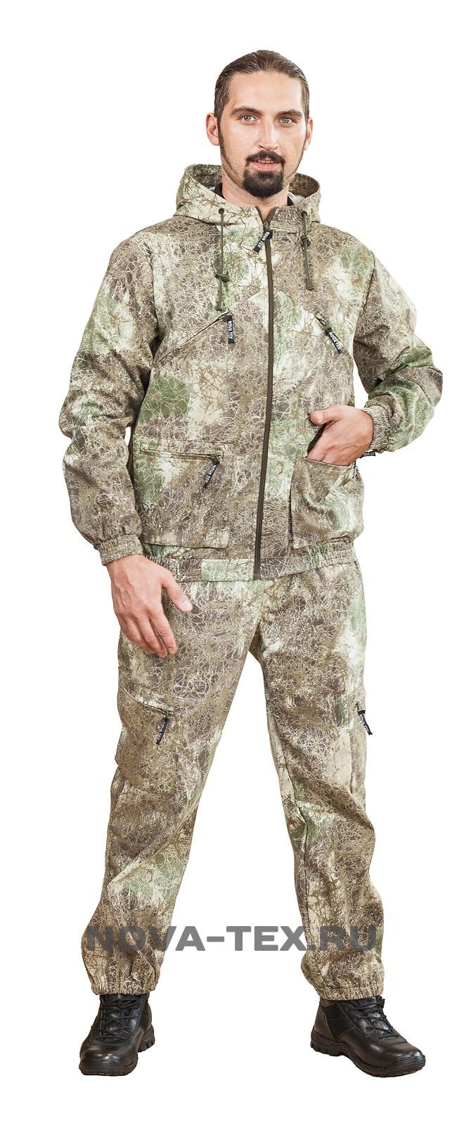 Костюм мужской Рысь (смесовая, паутина(686)), Костюмы неутепленные<br>Летний универсальный костюм (ТМ «Квест») <br>от компании Novatex. Удобный и функциональный <br>прекрасно подойдет для всех любителей активного <br>образа жизни. Состоит из короткой куртки <br>с капюшоном и прямых брюк, низ куртки и брюк <br>собраны на резинку. Смесовая ткань позволяет <br>костюму быть практичным и удобным в эксплуатации. <br>Костюм «Рысь» пользуется популярностью <br>как у любителей активного отдыха, так и <br>как надежный рабочий костюм. Особенности <br>модели: -капюшон регулируется -карманы на <br>молнии<br><br>Пол: мужской<br>Размер: 56-58<br>Рост: 182-188<br>Сезон: лето<br>Цвет: бежевый