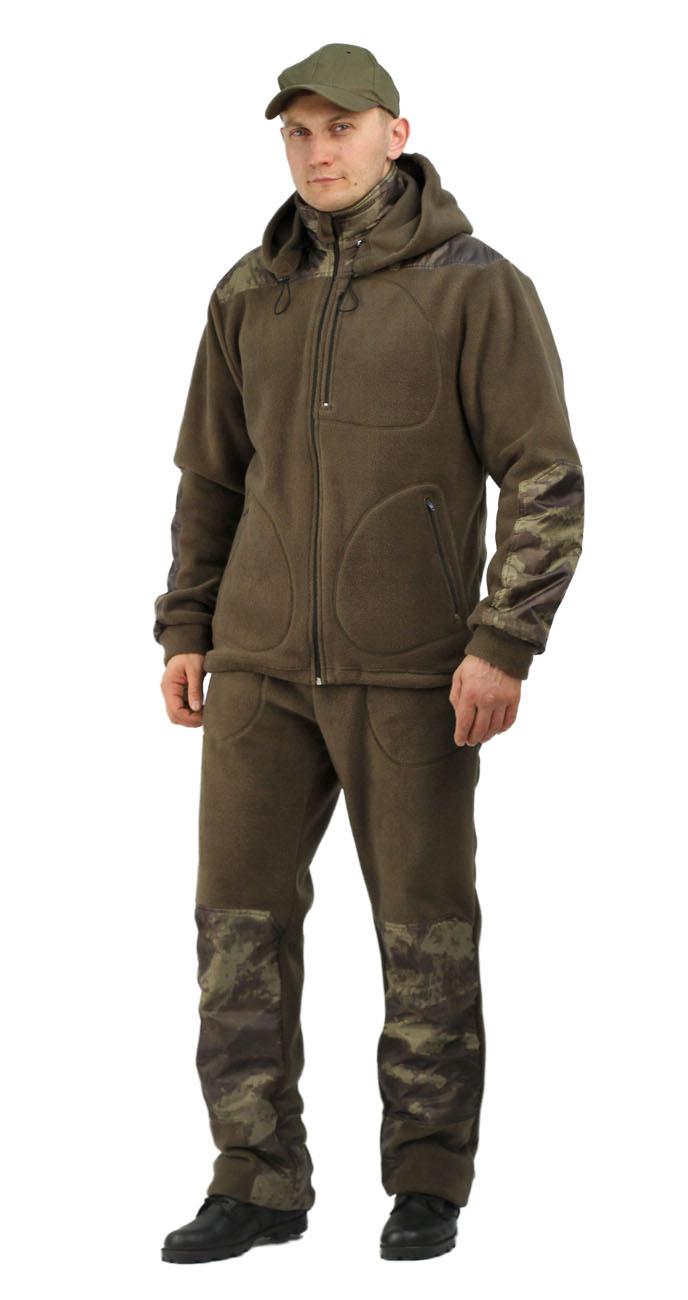 Флисовый мужской костюм Gerkon Picnic-2 цвет Костюмы флисовые<br>Модельные особенности: куртка и брюки из <br>флиса с накладками из плащевой тканью. - <br>отстёгивающийся капюшон с регулировкой <br>по овалу лица и объему – прорезные карманы <br>на молнии на куртке и брюках – регулировка <br>объема по низу куртки, поясу и низу брюк <br>- накладки на плечах, коленях, локтях и цнтральная <br>часть капюшона.<br><br>Пол: мужской<br>Размер: 60-62<br>Рост: 182-188<br>Сезон: демисезонный<br>Материал: Флис, пл.350г/м2, антипилинговый