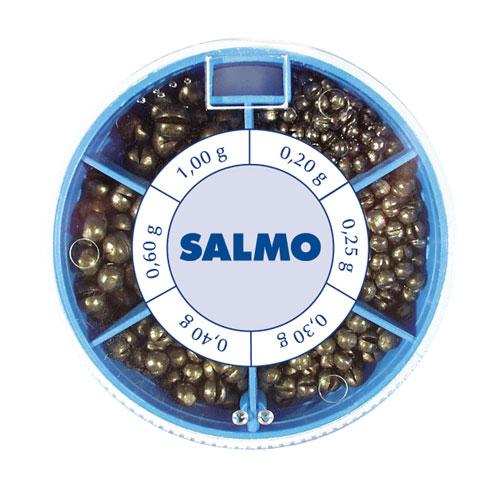 Грузила Salmo Дробинка Pl 6 Секций Крупные Грузила наборы<br>Грузила Salmo ДРОБИНКА PL 6 секц. крупн. 100г <br>набор 6 сек./0,2/0,25/0,3/0,4/0,6/1,0/вес 100г Набор грузил <br>в форме дробинок с прорезью для крепления <br>на леске. В комплекте 6 размеров. Каждый <br>размер грузил размещен в отдельное отделение <br>пластиковой коробочки. Предназначаются <br>для широкого применения в оснастках для <br>поплавочной ловли.<br><br>Сезон: Летний