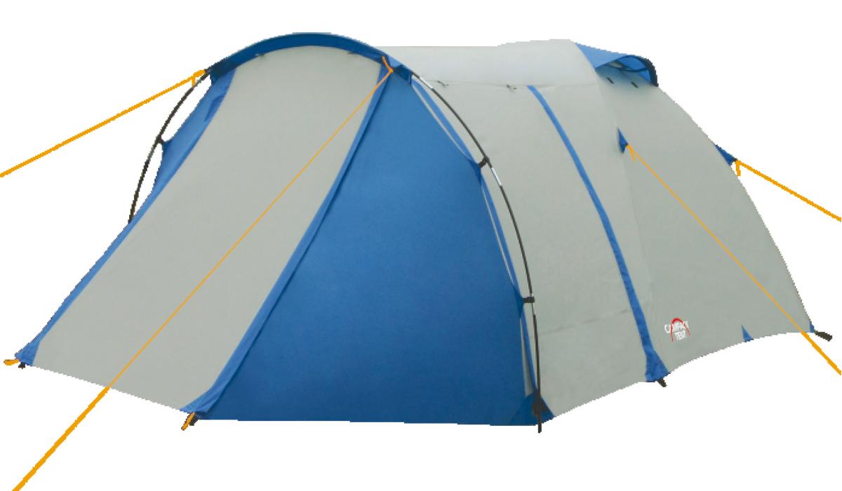Палатка туристическая CAMPACK-TENT Breeze Explorer Палатки<br>Современная палатка для несложных походов <br>и семейного отдыха на природе. Конструкция <br>позволяет использовать ее как весной, так <br>и осенью. Отличается увеличенными размерами <br>и функциональностью. Эта модель особенно <br>удобна для любителей комфорта (имеет увеличенную <br>высоту) и объемного багажа, который легко <br>разместить в тамбуре площадью ~ 3.5 м2. Высокопрочное <br>дно изготовлено из армированного полиэтилена, <br>не пропускает влагу и устойчиво к истиранию. <br>Каркас, изготовленный из фибергласса, обеспечивает <br>надежность и устойчивость. Палатка оснащена <br>увеличенными вентиляционными окнами, клапаном <br>от косого дождя и двухслойной дверью с цветными <br>молниями. Измененное крепление третьей <br>дуги, значительно облегчает установку палатки. <br>Внутри палатки имеется подвеска для фонаря <br>и карманы для хранения мелочей. Модель Breeze <br>Explorer имеет три раздельных входа. Основной <br>вход надежно защищен боковыми тентовыми <br>«крыльями», которые предотвращают задувание <br>холодного воздуха, при сильных порывах <br>ветра. Проклеенные швы гарантируют герметичность <br>и надежность в любой ситуации. Ткань тента:190T <br>P. Taffeta PU 3000MM Ткань палатки:170T P. Taffeta + MESH Ткань <br>дна:Tarpauling Вес: 4,9 кг Диаметр каркаса: 8,5 и <br>9,5 мм Ремнабор: Самоклеющиеся заплатки 100 <br>х 100 мм из ткани 190T P. Taffeta PU 3000MM<br>