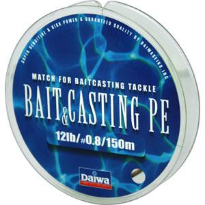 Леска Daiwa Bait Casting Pe 12 lbЛеска плетеная<br>Леска плетеная Bait &amp; Cast PE - изначально была <br>адаптирована производителем под мультипликаторные <br>катушки. Сравнивая с классическими PE шнурами, <br>у лески плетеной Daiwa Bait &amp; Casting прослеживается <br>в несколько раз большая жесткость. Это преимущество <br>с бол...<br>