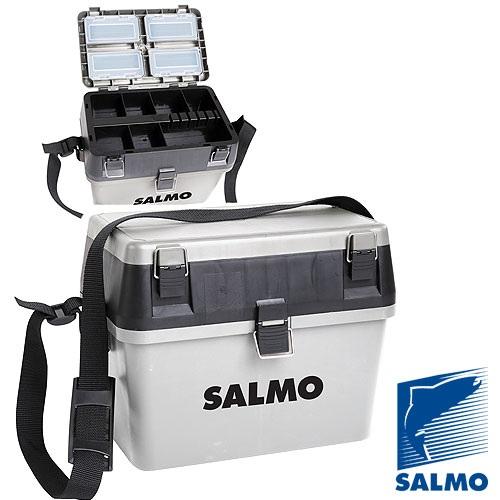 Ящик Рыболовный Зимний Salmo 2-Х Ярус.(Из 2-Х Ящики рыболова<br>Ящик рыболов. зим. Salmo 2-х ярус.(из 2-х частей) <br>пласт. 38x24.5x29см сер. пластик./размер 38x24,5x29/цв. <br>сер. Большинство рыболовов-зимников предпочитают <br>выезжать на подледную рыбалку, взяв с собой <br>рыболовный ящик. На ящике удобно ловить <br>рыбу, перевозить в нем удочки и прочее рыболовное <br>снаряжение, а в конце рыбалки - сложить в <br>него пойманный улов.<br><br>Сезон: Зимний