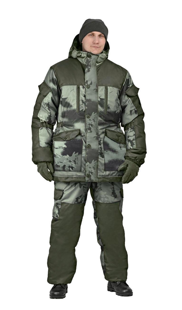 Костюм мужской Nordwig Donbass зимний кмф т.Алова Костюмы утепленные<br>Модель – рекомендуется для активного отдыха, <br>охоты, рыбалки и туризма Костюм оснащён <br>объёмными карманами «антивор» - Куртка <br>на молнии и закрывается ветрозащитной планкой <br>на пуговицах - Внутри куртки ветрозащитный <br>пояс - Внутренние трикотажные манжеты – <br>Фиксированная регулировка по талии, локтевым <br>частям рукава и нижним частям брюк - Дополнительное <br>усиления на плечах, локтях и коленях – Низ <br>рукава и брюк на резинке – Брюки с отстёгивающейся <br>утеплённой спинкой на бретелях.<br><br>Пол: мужской<br>Размер: 48-50<br>Рост: 182-188<br>Сезон: зима<br>Материал: мембрана