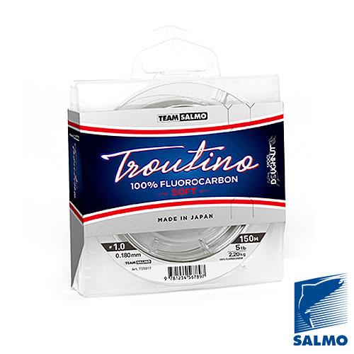 Леска Монофильная Team Salmo Fluorocarbon Troutino Soft Леска монофильная флюорокарбоновая<br>Леска моно. Team Salmo FLUOROCARBON Troutino Soft 150/020 дл.150м/диамм.0.201мм/тест <br>2.8кг/инд.уп. Специальная леска из флюорокарбона <br>разработанная для ловли форели и другой <br>осторожной рыбы. Прозрачная бесцветная <br>леска невидимая для рыбы в воде. Материал <br>мягкий, износостойкий, тяжелее воды и не <br>видимый в воде. Флюорокарбон при хранении <br>и использовании значительно долговечнее <br>любых нейлоновых лесок. Размотка на высокотехнологичные <br>шпули Doughnut по 150 метров. Изготавливается <br>и разматывается на специализированном <br>заводе в Японии. ? 100% флюорокарбон ? невидимая <br>в воде ? повышенная абразивная износостойкость <br>? повышенная мягкость ? тонущая леска ? прочная <br>на узле ? долговечная при хранении и использовании<br><br>Сезон: лето<br>Цвет: прозрачный