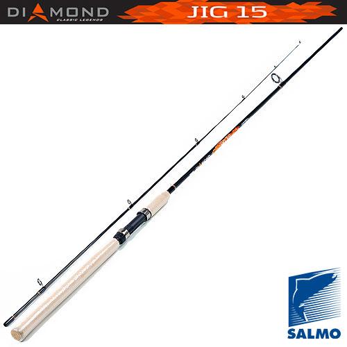 Спиннинг Salmo Diamond Jig 15 2.34Спинниги<br>Удилище спин. Salmo Diamond JIG 15 2.34 дл.2,34м/тест3-15г/строй <br>M/вес124г/2дл.тр.119 Спиннинговое удилище среднего <br>строя разрабатывалось для ловли на джиг-приманки. <br>В бланк спиннинга вклеена очень чувствительная <br>вершинка, что позволяет обеспечить качественный <br>контроль проводки приманки. Легкий бланк <br>спиннинга изготовлен из графита im7 и имеет <br>соединение колен по типу over steek. Укомплектован <br>кольцами со вставками sic ? Материал бланка <br>удилища – углеволокно(im7) ? Строй бланка <br>средний ? Класс спиннинга l ? Конструкция <br>штекерная ? Соединение колен типа OVersTeek <br>Кольца пропускные: – усиленное одноопорное <br>– со вставками sic Рукоятка: – пробковая <br>Катушкодержатель: – винтового типа<br><br>Сезон: лето