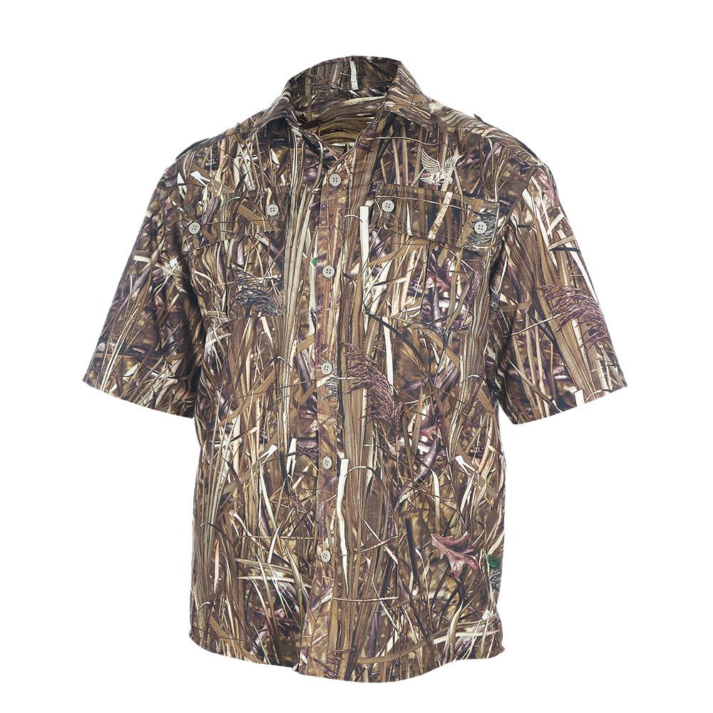 Рубашка ХСН «Бриз» короткий рукав (9457-7) Рубашки к/рукав<br>Рубашка мужская подойдет для ношения летом. <br>На рубашке есть накладные карманы. Материал <br>обработан водоотталкивающей пропиткой. <br>Комфортная температура эксплуатации от <br>+20°С до +35°С.<br><br>Пол: мужской<br>Размер: 54/170-176<br>Сезон: лето<br>Цвет: коричневый<br>Материал: Смесовая ткань (77% ПЭ, 23% вискоза)