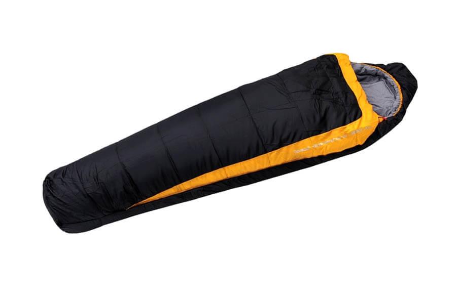 Спальный мешок ADVENTURE 300 XL R-zip (кокон -8С, 230Х85Х60 Спальники<br>Спальный мешок ADVENTURE 300 XL R-zip (кокон -8С, 230Х85Х60 <br>см) Экстремальный спальный мешок размера <br>XL - «кокон» двухслойной конструкции, капюшон <br>с системой затяжки и регулировки, внутренний <br>воротник, двухзамковая молния с внутренней <br>планкой даёт возможность соединить спальники <br>с молнией L и R друг с другом, компрессионный <br>чехол в комплекте. Молния справа (R). Сохраняет <br>свои утепляющие свойства даже во влажных <br>условиях. Быстро сохнет. В упакованном виде <br>имеет небольшой размер. Имеется внутренний <br>карман. Характеристики Назначение - экстремальный <br>Тип- кокон Размер - XL Возможность состегивания <br>- есть Двойная молния - есть Защита от заедания <br>молнии - есть Капюшон с системой регулировки <br>и утяжки - есть Внутренний карман - есть <br>Компрессионный мешок - есть Нижняя температура <br>комфорта -2 С Температура комфорта +4 С Верхняя <br>температура комфорта +9 С Экстремальная <br>температура -8 С Количество слоев наполнителя <br>-2 Материал внешней ткани - нейлон (Diamond RipStop) <br>Материал внутренней ткани - полиэстер (P4) <br>Наполнитель - синтетика (6 block Hollowfiber, 300 г/м2) <br>Вес - 2,3 кг Длина - 230 см Ширина в плечах - 85см <br>Для человека ростом до 185 см Габаритные <br>размеры в собранном виде - 42х25 см Цвет - черно-желтый<br><br>Сезон: демисезонный
