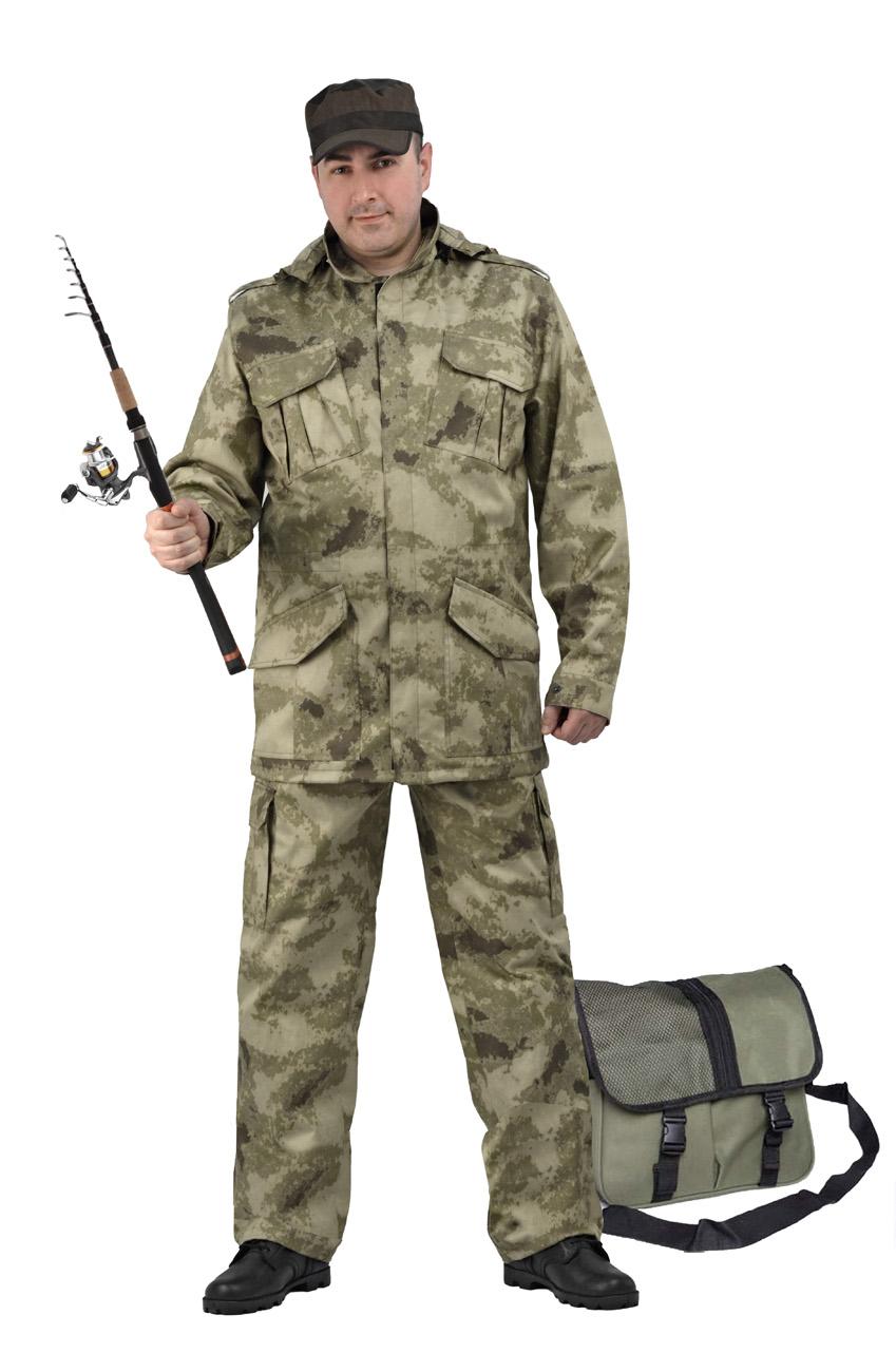 Костюм мужской Захват кмф грязь (44-46, Костюмы неутепленные<br>Универсальный летний костюм состоит из <br>удлиненной куртки с капюшоном и брюк. Куртка: <br>-съемный регулируемый капюшон. -погоны и <br>манжеты рукавов на кнопках -центральная <br>застежка молния закрывается планкой на <br>липучке. -нижние накладные карманы антивор <br>на липчке -нагрудные накладные полуобъёмные <br>карманы с клапаном на липучке. - регулировка <br>объема кулисой по линии талии и по низу. <br>Брюки: -два врезных кармана и два накладных <br>объемных кармана с клапаном на липучке. <br>-пояс со шлевками под широкий ремень -центральная <br>застежка на молнию -низ брюк регулируется<br><br>Пол: мужской<br>Размер: 44-46<br>Рост: 170-176<br>Сезон: лето<br>Материал: Смесовая, пл. 210 г/м2,