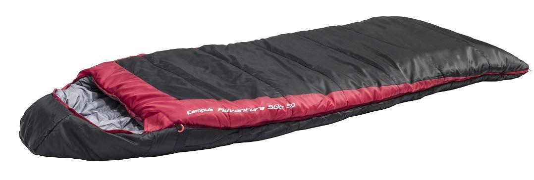Спальный мешок ADVENTURE 500SQ L-zip (одеяло -17С,  240X95см) (BLACK700/RED200) cпальный мешок campus adventure 500 xl l