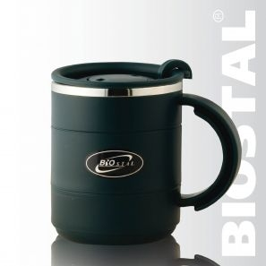 Термокружка Biostal с крышкой NE-400P 0,40лКружки, стаканы<br>Артикул: NE-400P Объем: 0,4 литра Высота: 10,8 см <br>Диаметр: 8,5 см Вес: 150 г Размер упаковки: 9,0Х12,0Х12,5 <br>см<br>