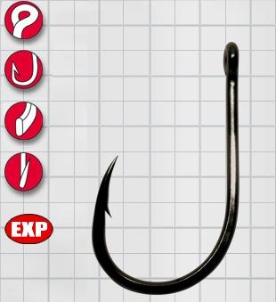 Крючок GAMAKATSU LS-3313F Ring Eye Serie №6 (14шт.)Одноподдевные<br>Универальный крючок с загнутым жалом и <br>круглым ушком из плоской проволоки.<br>