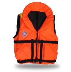 Жилет спасательный HUNTER 120 (р. 58-64, 120 кг, оранжевый)Спасательные жилеты<br>Предназначен для людей ведущих активный <br>образ жизни на воде, рыбаков и охотников. <br>Комплектуется свистком и светоотражающими <br>лентами. Есть отдельный карман для хранения <br>паховой стропы, новые, увеличенные в объеме, <br>наружные скошенные карманы на «липучках». <br>Низ жилета стал более «собран» для придания <br>ему лучшей формы. В комплект жилета входят <br>регулировочные ремни, светоотражающие <br>полосы, карманы, молния, свисток, паховая <br>стропа, воротник. Это самая бюджетная модель <br>наших размерных жилетов, но функционально <br>«Hunter» не подведет своего владельца при <br>попадании в воду. В воде, с помощью элементов <br>плавучести, «Hunter» перевернет владельца <br>в положение «лицом вверх» и удержит под <br>углом к горизонту так, чтобы обеспечить <br>безопасное положение головы над водой. <br>Размер жилетов указан в названии и зависит <br>от массы тела (например, Хантер 60) и подойдет <br>подросткам и взрослым, вес которых находится <br>в пределах от 60 до 140 кг. Цвет жилета – ярко-оранжевый. <br>Особенности конструкции спасательного <br>жилета «Хантер»: 01 Подголовник. Обязательное <br>условие сертифицированного спасательного <br>жилета. Ткань Оxford 230D PU1000, внутри которой <br>находятся несколько многослойных сегментов <br>из вспененного полиэтилена. Высокий подголовник <br>такой конструкции хорошо держит голову <br>владельца на плаву и в тоже время обладает <br>достаточной гибкостью для складывания <br>жилета при транспортировке. 02 Элементы <br>плавучести, состоящие из набора НПЭ пластин <br>толщиной 8мм каждая. Пластины на груди вшиты <br>между основной и подкладочной тканью и <br>обеспечивают на воде стабильное положение <br>на воде владельца «лицом вверх». 03 Лямка <br>выполнена из ременной ленты плотностью <br>от 16 г/м2 и является стягивающим элементом. <br>В зависимости от размера спасательного <br>жилета ее длина изменяется. Фиксируется <br>фас