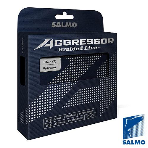 Леска Плетёная Salmo Aggressor Braid 100/013Леска плетеная<br>Леска плет. Salmo Aggressor BRAID 100/013 дл.100м/диамм.0.13мм/тест <br>6.1кг/инд.уп. Плетеный шнур универсального <br>применения из высокомодульного полиэтилена <br>(РЕ) . Рекомендуется использовать в тех случаях, <br>когда требуемая прочность не может быть <br>достигнута обычными нейлоновыми лесками. <br>Шнур круглого сечения с классическим плетением <br>из 4-х прядей. ? повышенная износостойкость <br>? высокая чувствительность – коэффициент <br>растяжения близок к нулю ? отсутствует «память» <br>? зеленая расцветка.<br><br>Цвет: зеленый