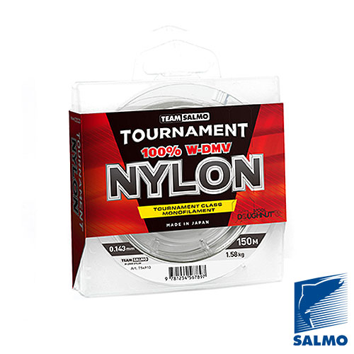 Леска Монофильная Team Salmo Tournament Nylon 150/014Леска монофильная<br>Леска моно. Team Salmo TOURNAMENT NYLON 150/014 дл.150м/диам.0.143мм/тест <br>1,58кг/инд.уп. Современная монофильная леска, <br>сделанная из высококачественного нейлона <br>марки W-DMV, что позволило добиться повышенной <br>износостойкости и прочности на узле. Мягкая, <br>прозрачная леска, с низким коэффициентом <br>растяжения, обеспечивающим ей высокую чувствительность <br>с заданной эластичностью. Леска идеально <br>калиброванапо заявленному диаметру ипредназначена <br>для всесезонного использования. Леска очень <br>устойчива к ультрафиолетовому излучению <br>и различным температурам применения. Размотка <br>на высокотехнологичные шпули Doughnutпо 150 <br>и 50 метров. Изготавливается и разматывается <br>на специализированном заводе в Японии. <br>? высокая прочность ? высокая износостойкость <br>? идеально калиброванная ? прочная на узле <br>? гладкая и скользкая поверхность ? низкая <br>остаточная «память» ? прозрачно-бесцветная <br>леска<br><br>Сезон: все сезоны<br>Цвет: прозрачный