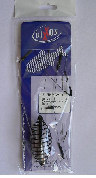Оснастка донная ЛИМАН 3 (кормушка 45г. , крюч.  №4,) комплектующие для кормушек beekeeping 4 equipment121mm 91 158