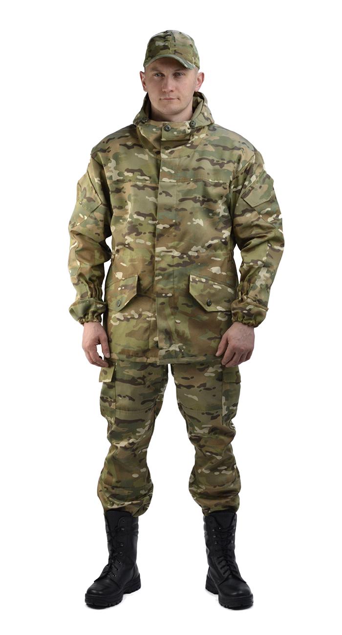 Костюм мужской Горка 3 летний тк. Грета Костюмы неутепленные<br>Классический тактический костюм Горка-3. <br>Прочная износостойкая ткань, Современный <br>окрас камуфляжа рассчитанный на любой цвет <br>местности. Куртка: • свободного кроя; • <br>застёжка центральная супатная, на петлю <br>и пуговицу; • кокетка, накладки и карманы <br>из отделочной ткани; • 2 нижних прорезных <br>кармана с клапаном, на петлю и пуговицу <br>; • внутренний отлетной карман на пуговицу; <br>• на рукавах по 1 накладному наклонному <br>карману с клапаном на петлю и пуговицу • <br>в области локтя усиливающие фигурные накладки; <br>• низ рукавов на резинке; • капюшон двойной, <br>с козырьком, имеет утягивающую кулису для <br>регулировки по объему ; • подгонка по талии <br>с помощью кулиски; Брюки: • свободного покроя; <br>• гульфик с застёжкой на петлю и пуговицу; <br>• 2 верхних кармана в боковых швах, • в области <br>коленей, на задних половинках брюк в области <br>сидения – усиливающие накладки; • 2 боковых <br>накладных кармана с клапаном; • 2 задних <br>накладных фигурных кармана на пуговицах; <br>• крой деталей в области коленей препятствует <br>их вытягиванию; • Пылезащитная юбка из <br>бязи по низу брюк; • задние половинки под <br>коленом собраны резинкой; • пояс на резинке; <br>• низ на резинке;<br><br>Пол: мужской<br>Размер: 46<br>Рост: 170-176<br>Сезон: лето<br>Цвет: зеленый<br>Материал: «Грета» (50% полиэфир, 50% хлопок) пл. 210 г/м2,