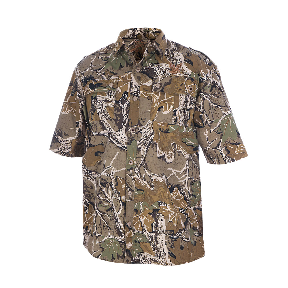 Рубашка ХСН с коротким рукавом (Лес, 62/170-176, Рубашки к/рукав<br>Предназначена для ношения летом. На рубашке <br>нашиты накладные карманы. Материал обработан <br>водоотталкивающей пропиткой. Выполнена <br>из хлопчатобумажной ткани. Комфортная температура <br>эксплуатации от +20°С до +30°С.<br><br>Пол: мужской<br>Размер: 62/170-176<br>Сезон: лето<br>Цвет: коричневый<br>Материал: Хлопчато-бумажная ткань