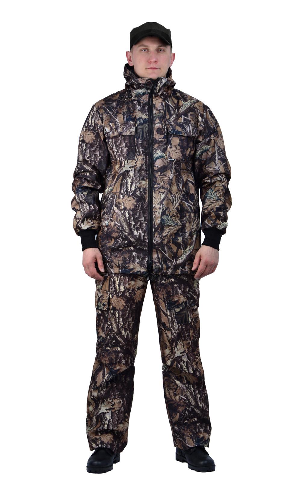 Костюм мужской Тройка демисезонный кмф Костюмы утепленные<br>Костюм состоит из куртки, брюк и жилета <br>Жилет утепленный: * воротник стойка * центральная <br>застежка на молнию * нагрудные объемные <br>накладные карманы с застежкой липучку * <br>нижние многофункциональные накладные объемные <br>карманы на молнии и липучке * внутренний <br>карман для документов Куртка с капюшоном <br>на подкладке из сетки: * центральная застежка <br>молнию * притачной капюшон с регулировкой <br>объема по лицевому вырезу * низ куртки регулируется <br>по объему эластичным шнуром * рукава с трикотажными <br>манжетами * нагрудные накладные объемные <br>карманы с клапанами на липучке * нижние <br>прорезные карманы с листочкой Брюки на <br>подкладке из сетки: * пояс с эластичной лентой <br>со шлевками под широкий ремень * защипы <br>в области коленей обеспечивают свободу <br>движения * боковые накладные объемные карманы <br>с клапанами на кнопках<br><br>Пол: мужской<br>Размер: 52-54<br>Рост: 182-188<br>Сезон: демисезонный<br>Цвет: коричневый<br>Материал: Алова 100% полиэстер