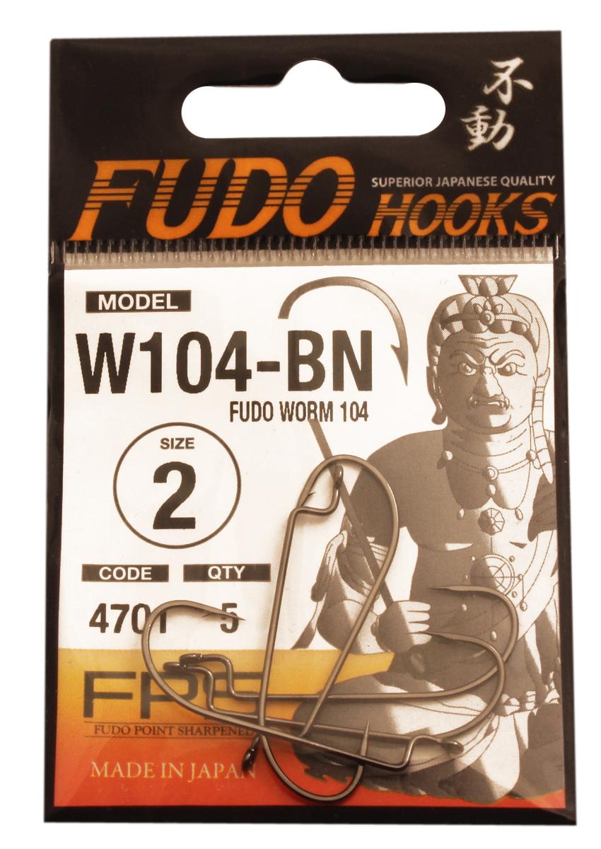 Крючок FUDO WORM №2 BN (104) (5шт)Офсетные<br>Рыболовные крючки FUDO, производства Японии, <br>являют собой сочетание лучших материалов <br>, лучших технологий и наилучших человеческих <br>навыков. Основными характеристиками крючков <br>являются : 1 ) оптимальная форма -с точки <br>зрения максимального улова. 2) Экстремальный <br>заточка крюка , которая сохраняется при <br>длительной ловле. 3) Отличная эластичность, <br>что позволяет им противостоять деформации. <br>4) Общая коррозионная стойкость в процессе <br>производства , благодаря нескольким патентам <br>в области металлургии и производства техники. <br>Сталь с управляемым содержания углерода <br>-это те материалы, которые применяются в <br>производстве крючков. Эти материалы, в виде <br>калиброванной проволоки ,изготавливаются <br>исключительно для инжиниринговой службы <br>FUDO . После чего, крючок подвергается двум <br>различным методом для заточки : механическим <br>и химическим. Во время заточки, уровень <br>остроты контролируется онлайн , что в итоге <br>приводит к идеальному повторению всей серии. <br>Прочность крючка реализуется через печи <br>, где система компьютерной помощи регулирования <br>температуры , позволяет достичь точности <br>в производстве в 0,01 градуса по Цельсию, <br>и времени обработки с точностью 0, 001 секунды. <br>В результате крючки FUDO получаются абсолютно <br>закаленными , что позволяет добиться отличного <br>результата по твердости и эластичность, <br>а также все модели крючков обладают анти <br>коррозионным покрытием. Превосходный офсетный <br>крючок, непревзайденного качества.<br>
