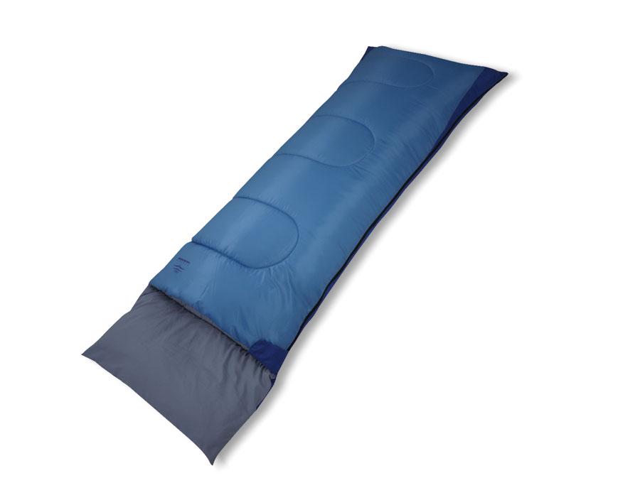 Спальный мешок Woodland PILOT 250Спальники<br>Спальный мешок-одеяло PILOT 250 – отличный <br>выбор для ночевки в летних туристических <br>походах и кемпинге. Высококачественный <br>утеплитель Hollow Fiber отлично сохраняет тепло, <br>при этом легок и пропускает воздух, благодаря <br>чему летние ночевки на природе будут максимально <br>комфортными. Большой и удобный подголовник <br>обеспечит максимальный комфорт во время <br>сна. Клапан с «липучкой» Velkro не даст молнии <br>расстегнуться. МОДЕЛЬ: PILOT 250 Температурный <br>режим ЦВЕТ: Cиний / желтый Комфорт: +15°С РАЗМЕР: <br>180+40 x 75 см. Нижний предел: +10°С МАТЕРИАЛЫ: <br>Polyester Honeycomb 70D, Water resist, Экстрим: +5°С Wind Proof <br>Polyester Silk Touch 75D/150D УТЕПЛИТЕЛЬ: HOLLOW FIBER (250 г/м2) <br>ВЕС: 1,25 кг.<br><br>Сезон: лето