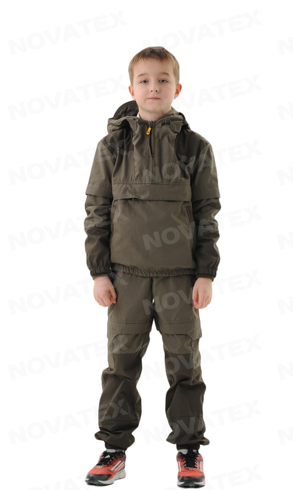 Костюм «Элит Барьер» (сорочка, кофе) детский Костюмы противоэнцефалитные<br>Костюм «Элит-Барьер» (ТМ «Payer») от Novatex разработан <br>на основе классического противоэнцефалитного <br>костюма. Этот костюм состоит из куртки типа <br>«анорак» с капюшоном и брюк прямого кроя. <br>Костюм оснащен специальными ловушками <br>для клещей и полностью пропитан специальным <br>акарицидным средством. В отличие от других <br>костюмов, обладает множеством защитных <br>кулис и ловушек с вставками под пропитку <br>акарицидными средствами. Сетка накомарника <br>съемная и легко убирается в потайной карман. <br>Тонкая и в то же время прочная ткань сорочка <br>создает надежную защиту, позволяет телу <br>«дышать» и повышает шансы своевременного <br>обнаружения насекомых. Рукава оснащены <br>плотными трикотажными манжетами. Область <br>коленей усилена дополнительным слоем ткани. <br>Этот костюм отлично подойдет для всех, кто <br>много бывает в лесу.<br><br>Пол: унисекс<br>Рост: 128-134<br>Сезон: лето<br>Цвет: оливковый