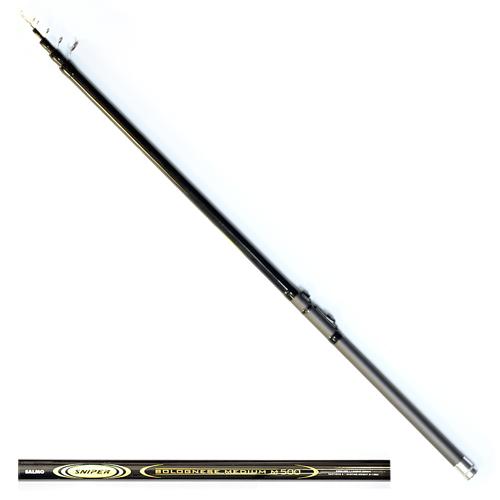 Удилище Поплавочное С Кольцами Salmo Sniper Удилища поплавочные<br>Удилище попл. с кол. Salmo Sniper BOLOGNESE MEDIUM M 5.00 <br>дл.5.00м/тест 3-15г/строй M/385г/5секц./дл.тр.120см <br>Телескопическое удилище среднего строя <br>из композита. Верхнее колено имеет дополнительное <br>разгрузочное кольцо, бланк укомплектован <br>кольцами со вставками SIC с креплением на <br>одной ножке. • Материал бланка удилища <br>– композит • Строй бланка средний • Конструкция <br>телескопическая Кольца пропускные: – дополнительное <br>разгрузочное – со вставками SIC • Рукоятка <br>с противоскользящим покрытием • Катушкодержатель <br>быстродействующего типа CLIP UP<br><br>Сезон: лето