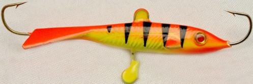 Балансир DIXXON FLIPPER ( цвет 14 ) 24 г/ 68 ммБалансиры<br>Балансир для ловли со льда. Оснащен высококачественными <br>впаянными крючками пр-во Корея. Подвесной <br>тройник MUSTAD с каплей. Застежка - MARUTO (Япония)<br>