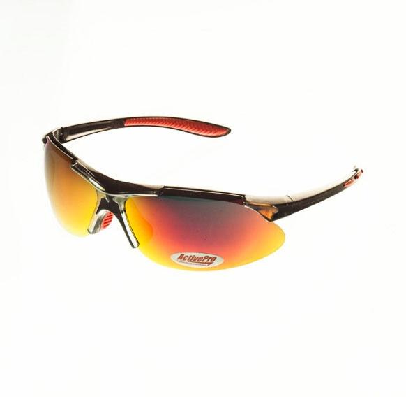 Очки поляризационные ActivePro Красные revo линзы Очки для активного отдыха<br>Свойства цвет вставки: красный цвет линзы: <br>красный revo цвет оправы: черный кристалл <br>поляризация: Cat. 3 материал : пластик Описание <br>Поляризационные очки отфильтровывают UV <br>лучи, уменьшают поток света, попадающего <br>на сетчатку, тем самым защищая глаза. Поглощая <br>блики солнечных лучей, очки позволяют видеть <br>рыбу и дно водоема. REVO –многослойное покрытие <br>с отблеском разных цветов или преобладанием <br>какого-либо отдельного цвета (красного). <br>Дополнительно отражает яркий солнечный <br>свет. Рекомендовано для активного отдыха, <br>такого как рыбалка, велоспорт, туризм и <br>др.<br>