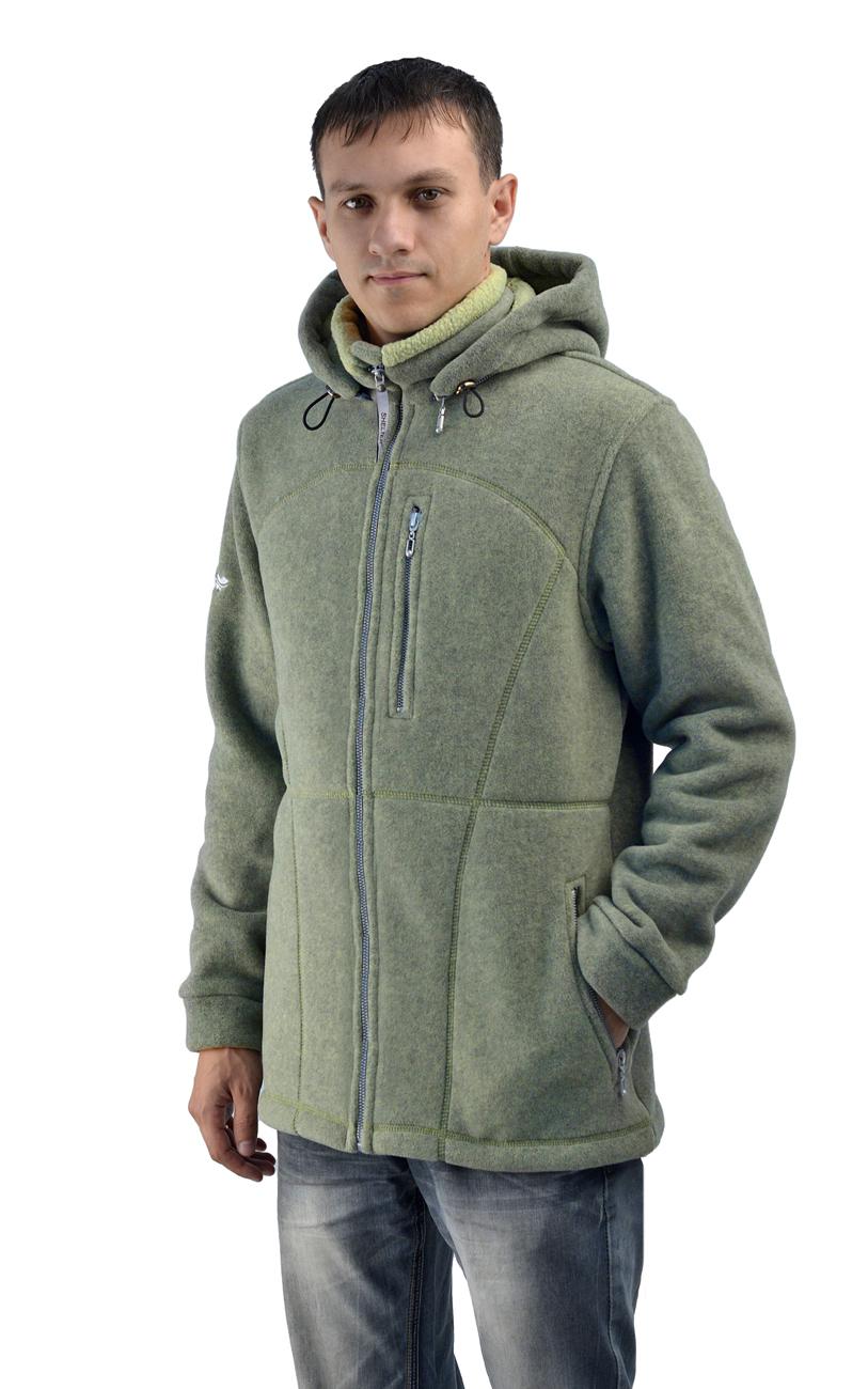 Куртка ПОЛАР SHELTER мужская с капюшоном (58)Куртки флисовые<br>Мягкая, уютная, теплая, неожиданно легкая <br>куртка будет для вас незаменимой. Она может <br>стать идеальным утепляющим слоем под ветровой <br>защитой, но по погоде хороша и в качестве <br>верхней одежды. Центральная застежка на <br>«молнию», 2 боковых и 1 нагрудный карман <br>на «молнии», воротник-стойка, пристегивающийся <br>на молнию капюшон с регулировкой объема, <br>кулиска по низу изделия. Трикотажное полотно <br>SHELTER обладает уникальной структурой, которая <br>поддерживает тепло и сухость Вашего тела.<br><br>Пол: мужской<br>Размер: 58<br>Сезон: все сезоны<br>Цвет: оливковый<br>Материал: флис