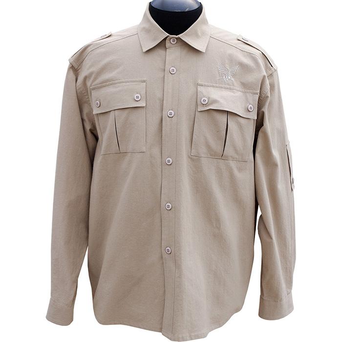 Рубашка ХСН Фазан (9486-5) (Сафари, 48/182-188, Рубашки д/рукав<br>Рубашка мужская подходит для ношения в <br>летний сезон. На рубашке есть накладные <br>карманы. Для защиты от влаги материал обработан <br>водоотталкивающей пропиткой. Комфортная <br>температура эксплуатации: от +20°С до +30°С.<br><br>Пол: мужской<br>Размер: 48/182-188<br>Сезон: лето<br>Цвет: бежевый<br>Материал: 100% хлопок