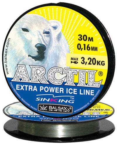 Леска BALSAX Arctil 30м 0,16 (3,2кг)Леска монофильная<br>Леска Arctil - создана специально для зимней <br>ловли. Очень хорошо выдерживает низкую <br>температуру. Поверхность обработана таким <br>образом, что она не обмерзает как стандартные <br>лески. Отлично подходит для подледного <br>лова. Даже в самом холодном климате, при <br>температуре до -40, она сохраняет свои свойства.<br><br>Сезон: зима