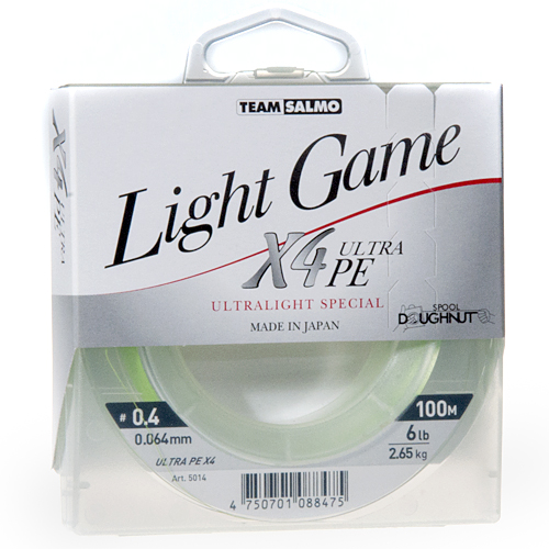 Леска Плетеная Team Salmo Light Game Fine Green X4 100/006 5014-006