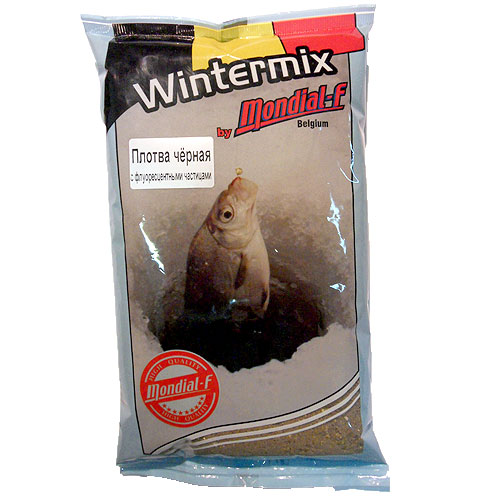 Прикормка Зимняя Сухая Mondial-F Wintermix Roach Black • Fluo 1Кг