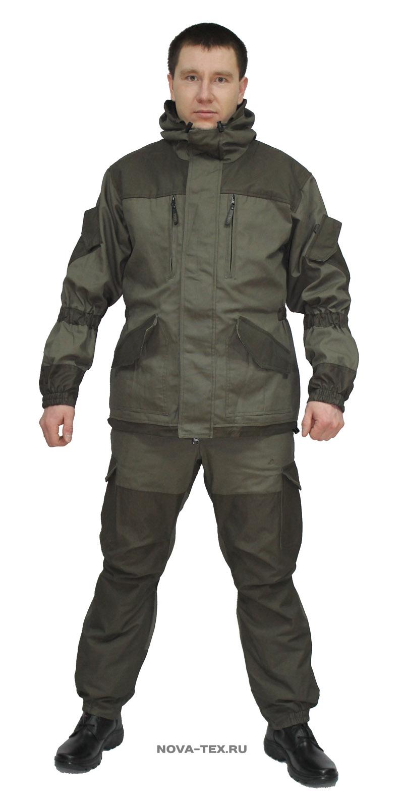 Костюм мужской Горка NEW (канвас, т.хаки), Костюмы неутепленные<br>Костюм «Горка NEW» ( ТМ «Payer») разработан <br>в компании Novatex на основе легендарного костюма <br>«Горка», используемого в спецподразделениях. <br>Костюм «Горка NEW» состоит из куртки и брюк <br>на подтяжках. Отличается специальным анатомическим <br>кроем, характерным для данной линии одежды. <br>Он не стесняет движений, дает свободу перемещения <br>в условиях пересеченной местности.Основная <br>ткань - прочный, износостойкий канвас. Эта <br>ткань (100% хлопка) прекрасно защищает от <br>ветра, почти мгновенно сохнет, пропускает <br>воздух (позволяя телу «дышать»). Места повышенного <br>износа имеют дополнительное усиление, мембранной <br>тканью «Кошачий глаз», которая не пропускает <br>влагу снаружи, отводит ее изнутри и обладает <br>повышенной износостойкостью. Рекомендован <br>для военных, охотников, рыбаков, туристов, <br>любителей военно-спортивных игр, представителей <br>силовых структур. Особенности модели: -основная <br>ткань - 100% хлопок -двойная ветрозащитная <br>планка -анатомический крой -двухзамковая <br>молния -капюшон регулируется по ширине <br>-отделка тканью-м<br><br>Пол: мужской<br>Размер: 48-50<br>Рост: 182-188<br>Сезон: лето<br>Цвет: серый<br>Материал: хлопок