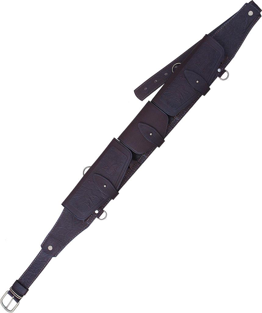 Патронташ ХСН К-12 20 патронов (закрытый)Патронташи<br>Патронташ надежно держит 20 патронов в лузах. <br>Позволяет загрузить патроны снаряженные <br>в гильзы длиной от 70 мм до 89 мм.<br><br>Пол: мужской<br>Сезон: все сезоны<br>Цвет: темно-коричневый<br>Материал: Натуральная кожа