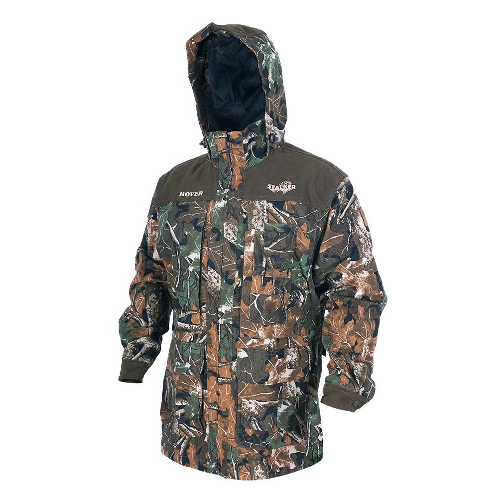 Штормовка ХСН Ровер-универсальная (9793-1) Куртки неутепленные<br>Идеально подходит для охоты, рыбалки, активного <br>отдыха. Штормовка изготовлена из не шуршащей <br>ткани с содержанием хлопка с водоотталкивающей <br>тефлоновой пропиткой. Комфортная температура <br>эксплуатации от +10°С до +20°С. Особенности: <br>- съемный утягивающийся капюшон; - вшитая <br>противомоскитная сетка; - застегивается <br>на молнию; - воротник - стойка; - манжеты на <br>пуговицах; - специальный крой рукавов, обеспечивающий <br>свободу движения; - усиленная ткань на плечах.<br><br>Пол: мужской<br>Размер: 54 - 56 / 182<br>Сезон: лето<br>Цвет: камуфляжный<br>Материал: Смесовая ткань с тефлоновой пропиткой
