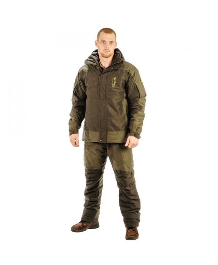 Костюм Aquatic К-02 зимний (3XL)Костюмы утепленные<br>Легкий и теплый костюм К-02 изготовлен из <br>мягкой, бесшумной ткани с показателями <br>мембраны 5 000/5 000.Комплект обеспечивает надежную <br>защиту от перемен погодных условий и предназначен <br>для ходовой рыбалки и охоты в холодную погоду <br>и ловли со льда. Температурный режим использования <br>в движении до – 25С. Куртка : Швы проклеены, <br>- Высокий воротник ;- Съемный капюшон имеет <br>козырек с регулировкой формы; - Центральная <br>встречная планка; -8 карманов : 2 боковых <br>кармана на водонепроницаемой молнии; 2 кармана <br>на рукавах для мелочей; 1 внутренний накладной <br>карман для документов и гаджетов с прорезной <br>петлей для вывода наушников; 1 карман под <br>центральной планкой для гаджетов; 1 внутренний <br>карман ; 1 накладной карман на спинке куртки.- <br>Комбинированная подкладка на флисе. Комбинезон: <br>Эргономичный крой; -Утепленная спинка на <br>молнии;- Эластичные бретели для подгонки <br>по фигуре;-4 кармана на водонепроницаемой <br>молнии;-2 нижних накладных кармана;- Усиленная <br>задняя часть;- Регулировка обхвата голени <br>по низу брюк.<br><br>Пол: мужской<br>Размер: XXXL<br>Сезон: зима<br>Цвет: оливковый