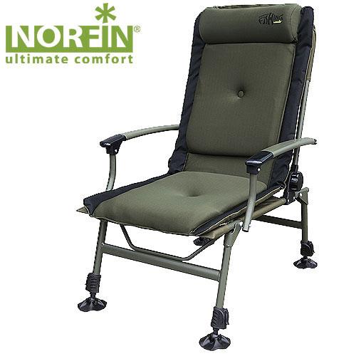 Кресло карповое Norfin Preston NfКресла, стулья, зонты<br>Складное кресло - прекрасный выбор для <br>ценящих комфорт рыбаков. Передние ножки <br>с возможностью регулировки высоты, удобный <br>мягкий подголовник, легко складывается <br>и переносится. Особенности: - габариты 50x53x37/102 <br>см; - размер в сложенном виде 98x84x22 см; - максимальная <br>нагрузка 140 кг; - каркас из алюминия 12 мм, <br>25 мм.<br><br>Сезон: лето<br>Цвет: хаки<br>Материал: 600D polyester, PVC