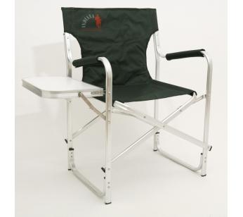 INDI-033T КреслоСтулья, кресла<br>INDI-033T Кресло.<br>Складное кресло Indiana INDI-033T - идеальный <br>вариант для дачников и рыболовов, прекрасно <br>подходит для кемпинга, пикников и отдыха <br>на природе. <br>Каркас кресла выполнен из алюминиевой <br>трубы. Тканевые элементы кресла изготовлены <br>из стойкого к ультрафиолетовому излучению <br>материала. Мягкие профилированные подлокотники <br>оснащены защитным чехлом. Сбоку имеется <br>откидной столик. <br>Конструкция ножек с поперечной трубой <br>придает дополнительную устойчивость креслу, <br>препятствует его проваливанию в песок или <br>рыхлую землю. <br>Кресло легко складывается и раскладывается. <br>В сложенном состоянии занимает минимум <br>места, что очень удобно при хранении и транспортировке.<br>Максимальная нагрузка: 120 кг<br>Размер кресла (в разобранном виде): 50x63x84 <br>см<br>Размер кресла (в собранном виде): 50x90x12 см<br>Размер откидного столика: 41x25 см<br>
