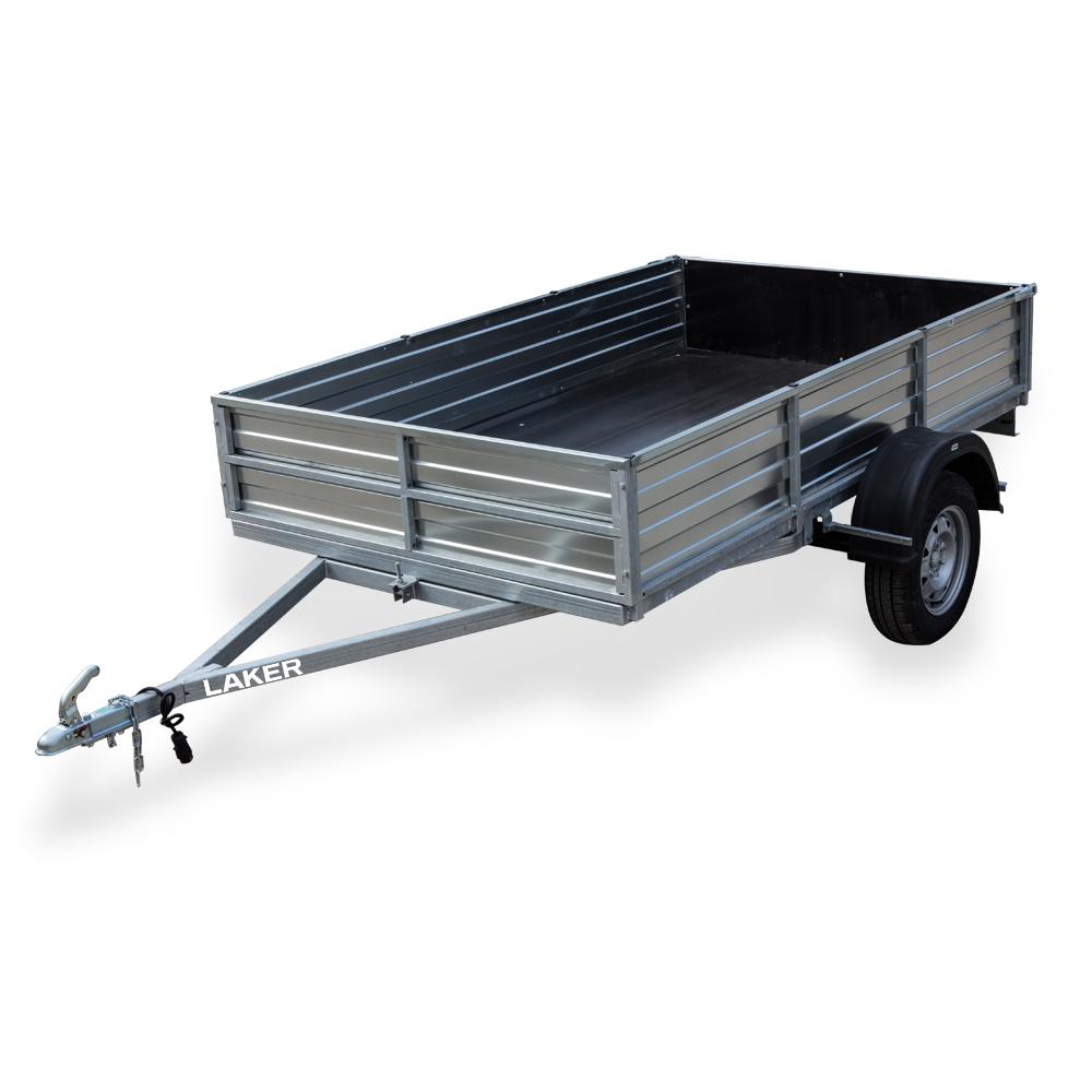 Прицеп Laker Heavy Duty 400, с рессорной подвеской, Мягкие и съедобные<br>Heavy Duty 400 - Прицеп предназначен для перевозки <br>квадроциклов ATV, мотоблоков, стройматериалов <br>и др. грузов.<br>