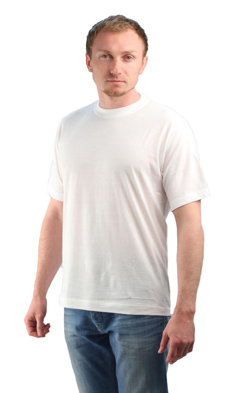 Футболка белая (M)Футболки к/рукав<br>Классическая футболка из мягкого эластичного <br>трикотажа. - прямой силуэт - короткий рукав <br>- круглый вырез горловины Размеры: M-XXXL<br><br>Пол: мужской<br>Размер: M<br>Сезон: все сезоны<br>Цвет: белый<br>Материал: хлопок