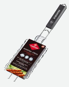Решётка-гриль FORESTER д/сосисок, колбасок,  шпикачек 21х12 решетка гриль forester для сосисок колбасок шпикачек 12 x 22 см
