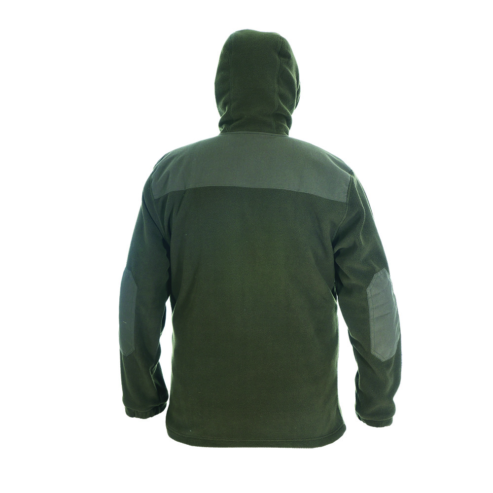 Куртка ХСН с капюшоном флис (Хаки, 46 - 48 / Куртки флисовые<br>Отлично подходит для прогулок ранней осенью <br>и идеально подходит в качестве дополнительного <br>утеплителя зимой. Подходит для использования <br>при разных погодных условиях как для охоты <br>так и для активного отдыха. Комфортная температура <br>эксплуатации: от 0°С до +15°С. Особенности: <br>- хорошо сохраняет тепло; - утягивающийся <br>капюшон; - застегивается на молнию; - 2 боковых <br>кармана + 1 на груди; - высокий воротник.<br><br>Пол: мужской<br>Размер: 46 - 48 / 176<br>Сезон: демисезонный<br>Цвет: оливковый<br>Материал: поларфлис